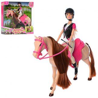 Наездница детская кукла на лошади 30 см (аналог Барби)
