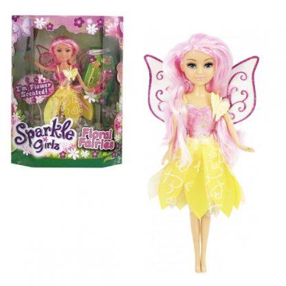 Кукла Sparkle Girls Цветочная фея в розово-жёлтом платье с аксессуарами