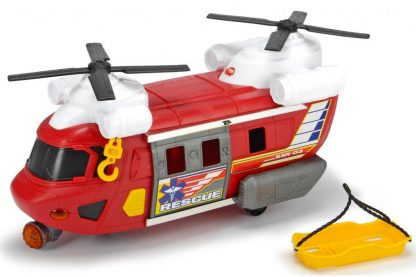 Функциональный Вертолет службы спасения с лебедкой Dickie Toys красный 30 см