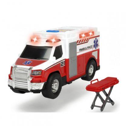 Функциональная Неотложная помощь Dickie Toys с носилками со световыми и звуковыми эффектами и носилками 30 см