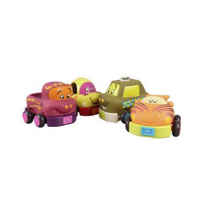 Игровой Набор – Забавный Автопарк (4 инерционных машинок)