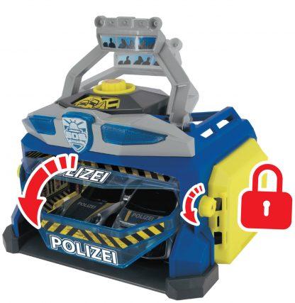 Набор Dickie Toys Sos Станция SWAT c 3 машинками и пускателем дронов, со светом и звуком