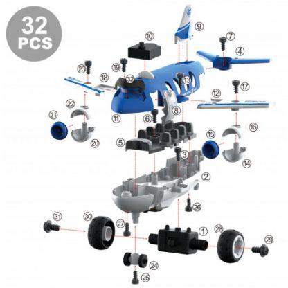 Конструктор DIY Spatial Creativity Самолет с электродвигателем