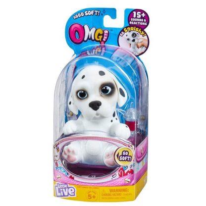 Интерактивная игрушка OMG Pets Little live pets Soft hearts Щенок Далматинец