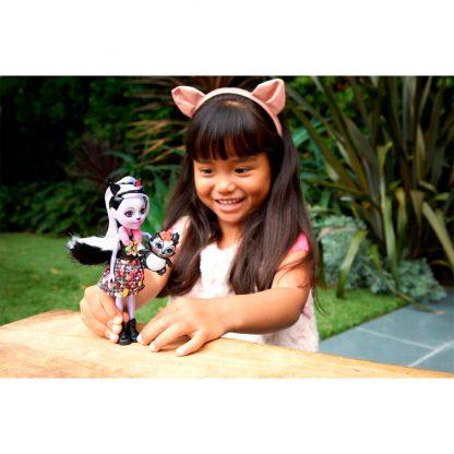 Кукла Enchantimals Скунсик Сейдж и ее питомец Капер