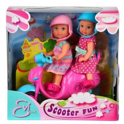 Кукольный набор Steffi & Evi Love Эви Весёлая поездка на скутере