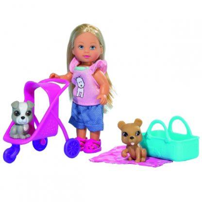 Кукольный набор Steffi & Evi Love Эви и ее любимцы с коляской