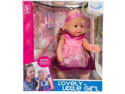 Пупс Lovely Little Girl Маленькая принцесса-фея аналог Baby Born с аксессуарам