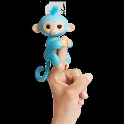 Интерактивная блестящая обезьянка WowWee Fingerlings Glitter Амелия