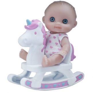 JC Toys Пупс-малыш с качелями 13 см