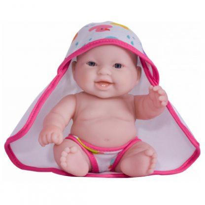 JC Toys Пупс Моли с розовым полотенцем 20 см