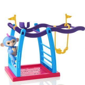 Игровой набор Обезьянка на палец с площадкой для игры Интерактивная обезьянка на качелях Fingerlings Monkey Bar Playset