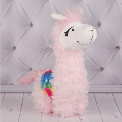 Мягкая игрушка Розовая Лама
