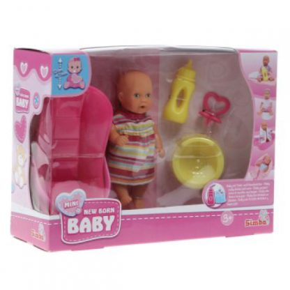Мини-пупс с розовой ванночкой New Born Baby Simba