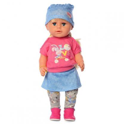 Пупс Sweet Baby Малятко Немовлятко Sister, аналог Baby Born Старшая сестричка В Джинсовой шапочке