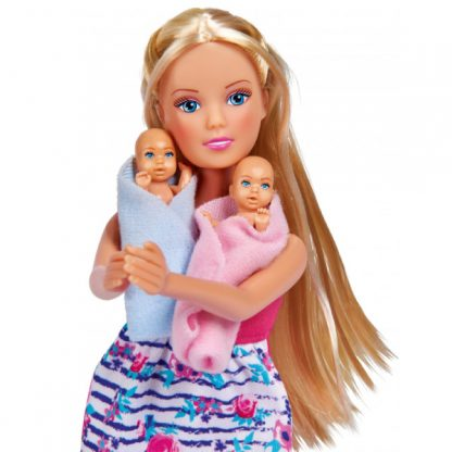 Кукла Steffi & Evi love Штеффи Беременная двойней с младенцами и аксессуары