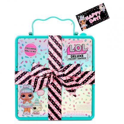 Игровой набор с эксклюзивной куклой L.O.L. Surprise! серии Present Surprise - Суперподарок (бирюзовый)