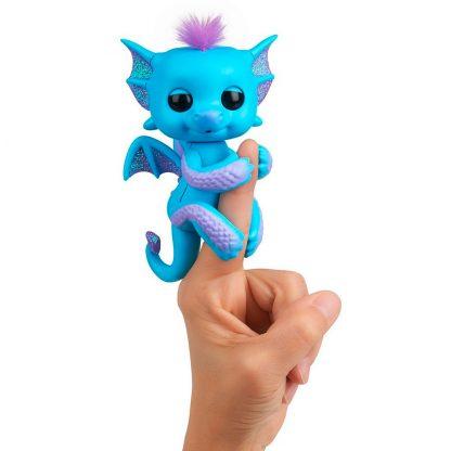 Интерактивный Блестящий дракон Оригинал WowWee Fingerlings Tara Glitter Dragon Тара