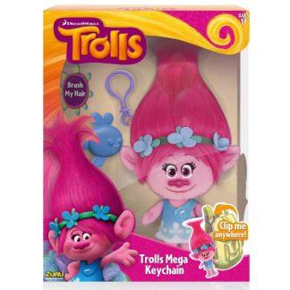 Мягкая игрушка с клипсой Trolls Poppy Розочка 22 см