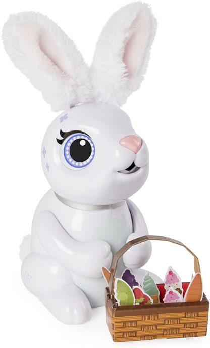 Интерактивный робот-кролик Zoomer Hungry Bunnies Chewy, который ест