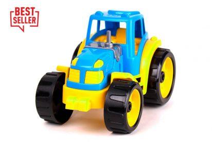 Трактор ТехноК сине-желтый 25 см
