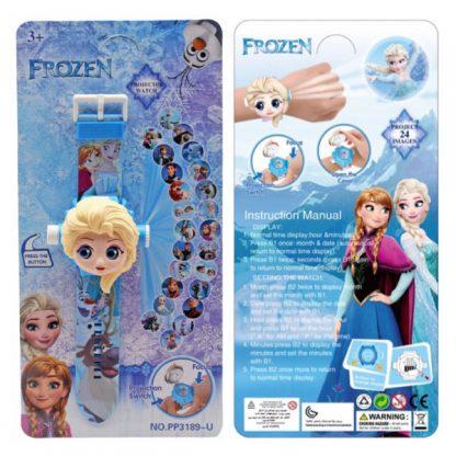 Детские наручные часы с проектором и крышкой Холодное сердце Frozen 24 картинки