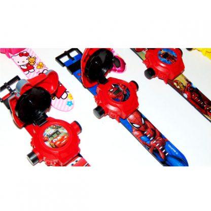 Детские наручные часы с проектором и крышкой Тачки Молния Маквин McQueen 20 картинок