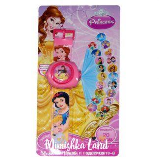 Детские наручные часы с проектором Принцессы Дисней 20 картинок