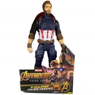 Витрина магазина: Супергероя Капитан Америка Captain America (аналог) 30 см со звуком и светом