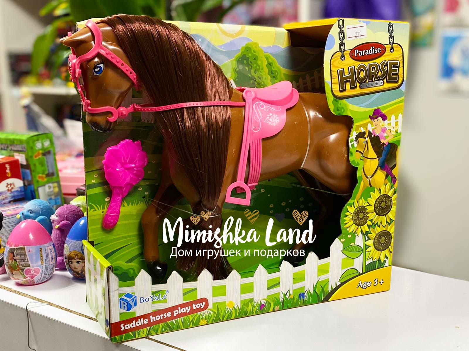 Лошадь для куклы типа Барби Barbie 25 см (бурая)