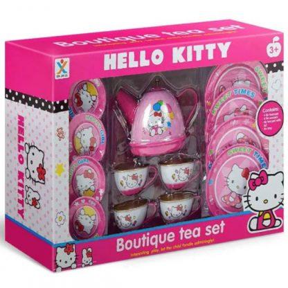 Детская металлическая посудка Чайный набор Hello Kitty 14 предметов