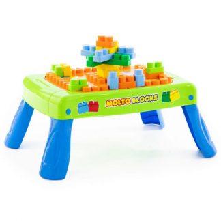 Игровой набор с конструктором зелёный с элементом вращения 20 элементов