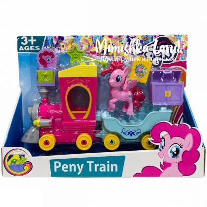 Конструктор Пони Паровоз Peny Train (аналог My Little Pony) 30 деталей