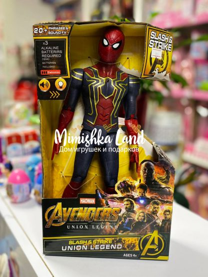 Витрина магазина: Фигурка Супергероя Человек-паук Spider-Man 31 см со звуком и светом