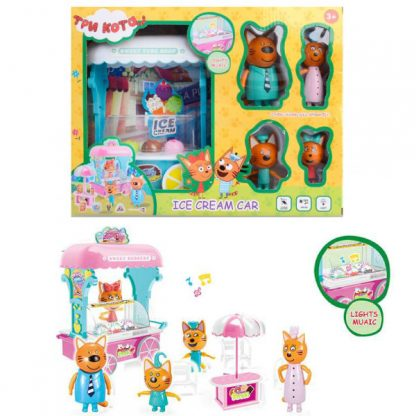 Игровой набор Три кота — Машина с мороженым со звуком и светом