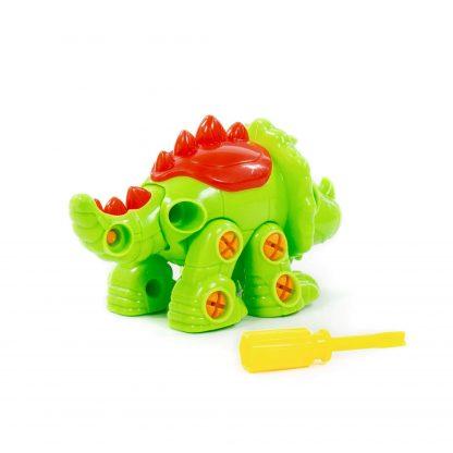 Конструктор-динозавр Трицератопс в коробке