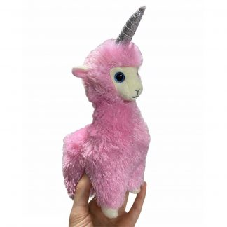 Мягкая игрушка TY Beanie Babies Розовая лама-единорог Лана 15 см