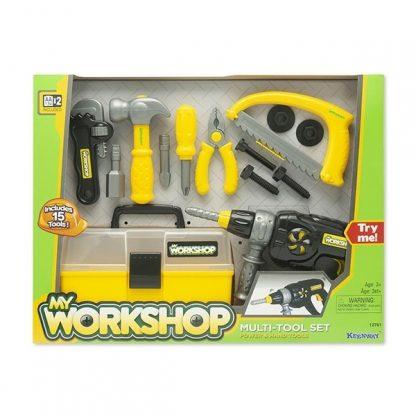 Игровой набор Keenway Средний Набор Инструментов My Workshop, 15 ед.