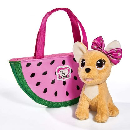 Мягкая игрушка Chi Chi Love Чихуахуа Фруктовая мода с сумочкой 18 см