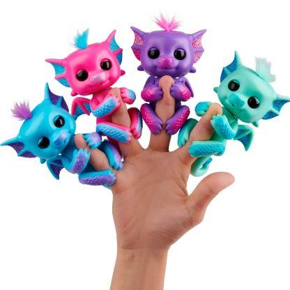 Интерактивный дракончик Сенди Оригинал WowWee Fingerlings Dragon 12 см