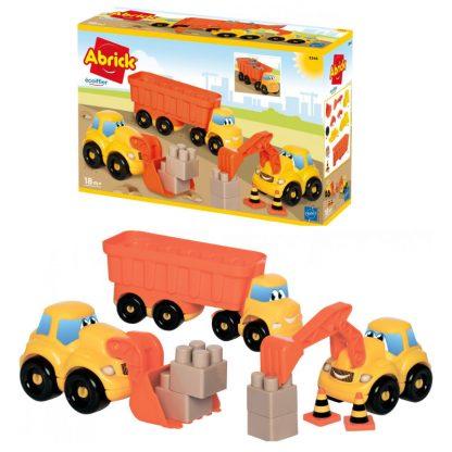 Конструктор для малышей Ecoiffier Abrick Строительство с транспортом 36 элементов