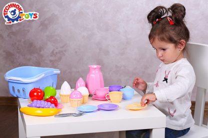 Набор детской посуды ТехноК в корзинке 31 элемент