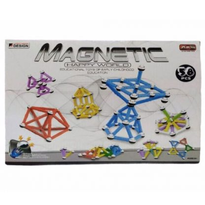 Магнитный конструктор с металлическими шариками 58 деталей