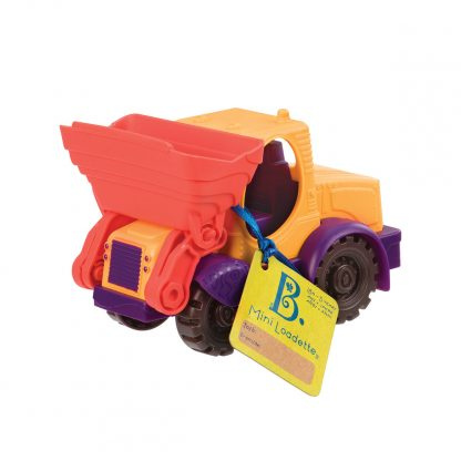 Игрушка для игры с песком Battat Мини-Экскаватор (цвет манго-сливово-томатный)