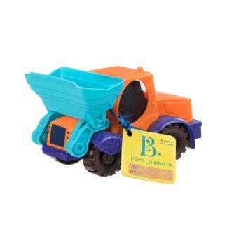 Игрушка для игры с песком Battat Мини-Экскаватор (цвет морской-мандариновый-океан)