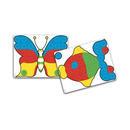 Набор Quercetti для занятий мозаикой (кейс, 48 больших фишек, доска 27х21)