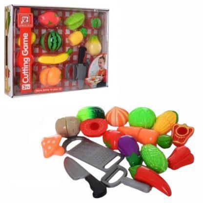 Набор продуктов на липучках с кухонными инструментами и подносом в ассортименте