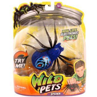 Интерактивный паук Чиле Moose Wild Pets Chiller синий