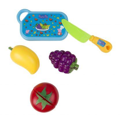 Игровой набор Peppa Набор фруктов и овощей Пеппа на липучках 5 предметов