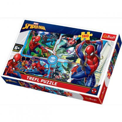 Пазлы Trefl Трефл Spider-Man Человек-паук спешит на помощь 160 элементов (15357)